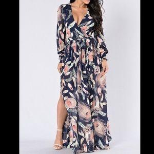 Fashion Nova Brunch Date Dress - Navy